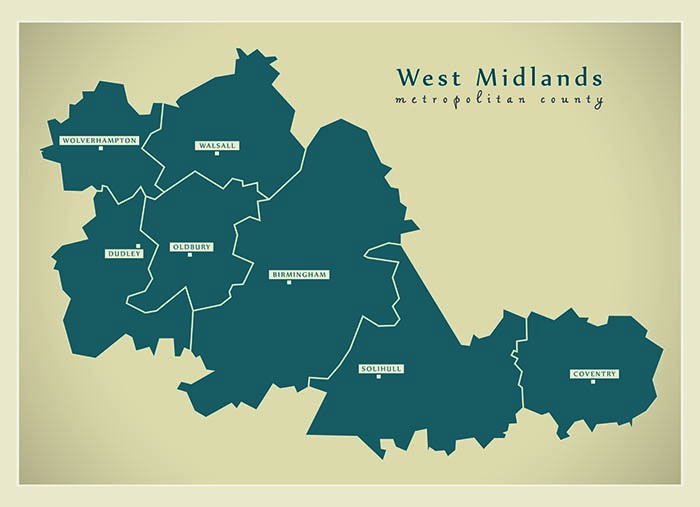 Wolverhampton, in the West Midlands