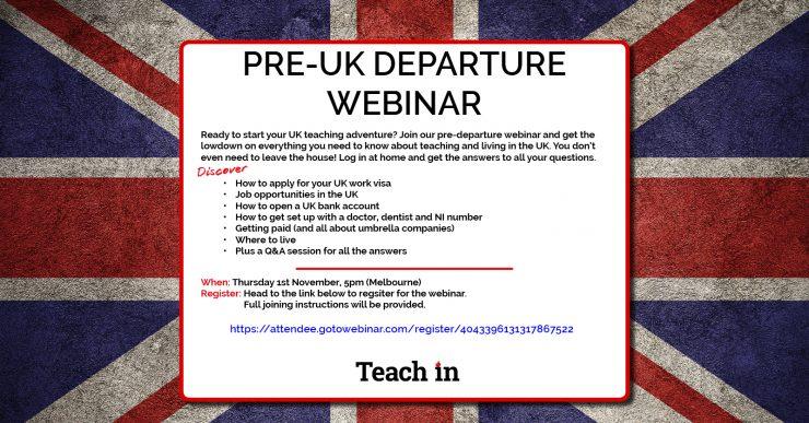 Pre UK Departure Webinar | Teach In